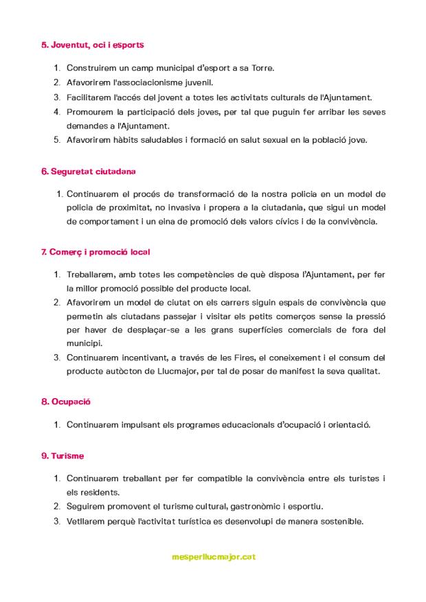 Programa de MÉS per Llucmajor eleccions municipals 2019_3