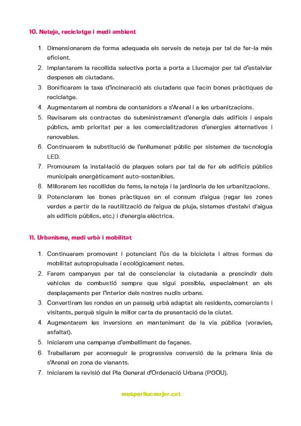 Programa de MÉS per Llucmajor eleccions municipals 2019_4