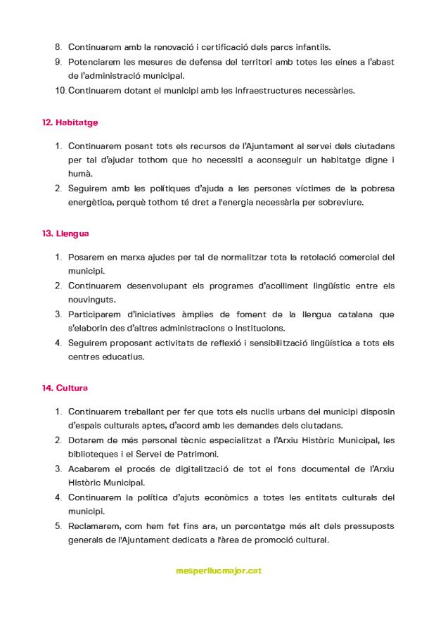 Programa de MÉS per Llucmajor eleccions municipals 2019_5