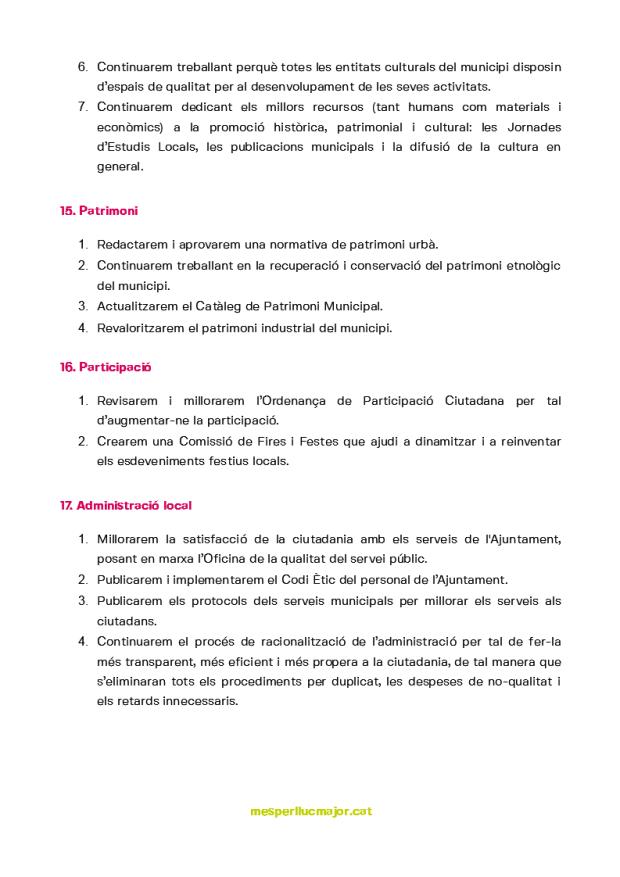 Programa de MÉS per Llucmajor eleccions municipals 2019_6